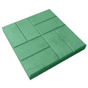плитка 8 кирпичей зеленая