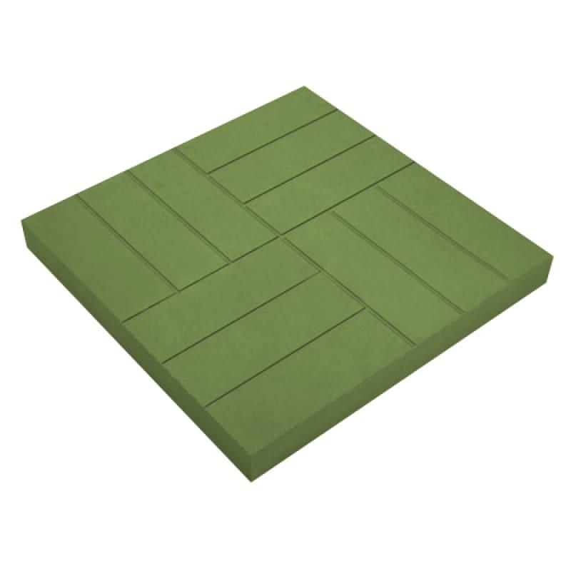 Тротуарная 500х500х50 зеленая