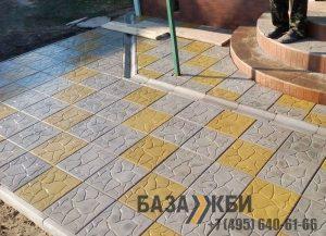 Пример использования тротуарной плитки тучка